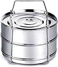 Instant Pot Accessories, Steamer Insert Pans for 6qt/ 8qt Pressure Cooker, BBing Stackable Stainless Steel Vegetable Steam...