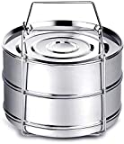 Instant Pot Accessories, Steamer Insert Pans for 6qt/ 8qt Pressure Cooker, BBing Stackable Stainless Steel Vegetable Steamer with Sling