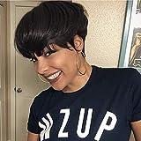 HOTKIS Human Hair Short Pixie Cut Wigs for Black Women African Americans Short Human Hair Wigs