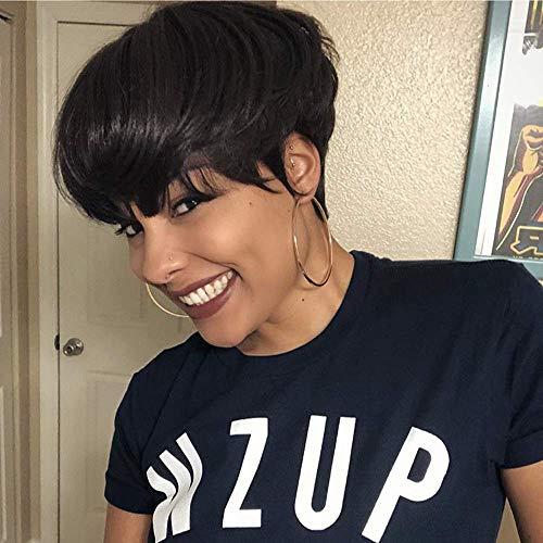 HOTKIS 100% Human Hair Short Pixie Cut Wigs for Black Women African Americans Short Human Hair Wigs