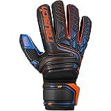 reusch guanti da portiere da uomo attrakt sg extra finger support, nero/arancione shocking / blu scuro