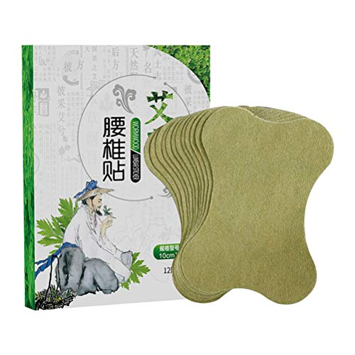 Pack of 12 wormwood lumbar stickers, self-heating moxibustion plaster, moxa leaf paste, wormwood stickers, pain relief patch, application location, lumbar spine, shoulder and neck, wrist etc.