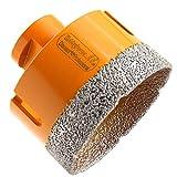 HOBBYPOWER24® Premium Diamantbohrkrone Fliesenbohrer Diamantbohrer Diamant Bohrkrone Ø 68 mm Steckdosen Feinsteinzeug Marmor Naturstein Granit M14 passend für Winkelschleifer Flex