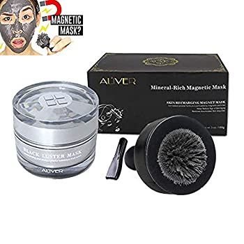 Magnetic Face Mask Aliver Mineral-Rich Sea Mud Mask Deep Cleansing Mask Anti-aging Anti-stress Moisturizing Mask for Women and Men