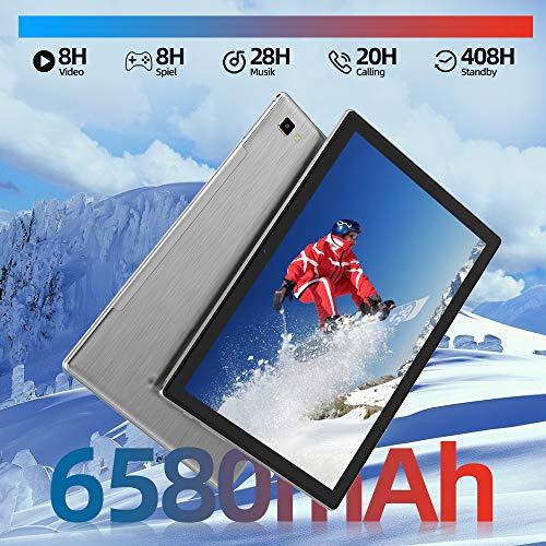 Blackview Tab8 Tablet 10,1 Zoll Android 10 Tablet-PC, 1920x1200 FHD, IPS, Touch 6580mAh Akku, Octa-Core-Prozessor, 4GB RAM, 64GB ROM, 4G LTE Dual SIM, Wi-Fi, GPS, Bluetooth