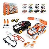 Kimiangel Take Apart Toys Racing Model Car Pull Back Build Your Own Toy Car, Creative STEM Car Toy Playsets, Child's Car Collection Toy Vehicle Gift Toys for Boys 3,4,5,6,7 Year Olds