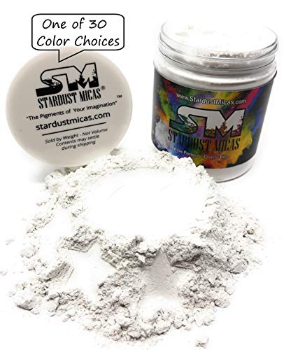 Organic All-Natural Cosmetic Grade Mica Powder, Mica Powder, Clear Mica Powder, Cosmetic Grade Mica, Organic Mica Powder for Makeup, Cosmetic Making Kit, Powders Cosmetics (Just Mica, 72 Gram Jar)