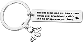 Birthday Gifts for Best Friends, True Friends Keychain Friendship keyring for Women Friends, Jewelry Gift for Men Sisters Wedding Key Ring Teen Girls Boys Him Her