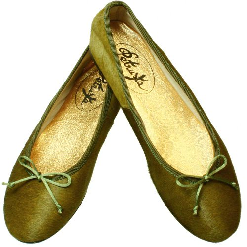 Petruska Fell Ballerina Schuhe in Loden-Grün - Ballerinas Vienna by