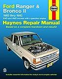 Ford Ranger & Bronco II 2WD & 4WD petrol (1983-1992) Haynes Repair...