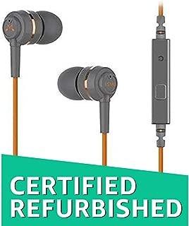 (Renewed) SoundMagic ES18S in-Ear Headphones with Mic (Grey/Orange)