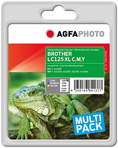 AgfaPhoto APB125TRID Remanufactured Tintenpatronen Pack of 3