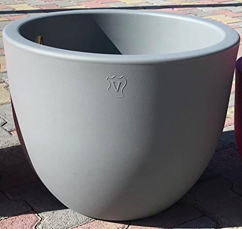 Veca Veneta Casalinghi Vaso FIORIERA in Resina ''EGGY'' Vari Colori 45 CM No plastica Vaso da Giardino col. Grigio