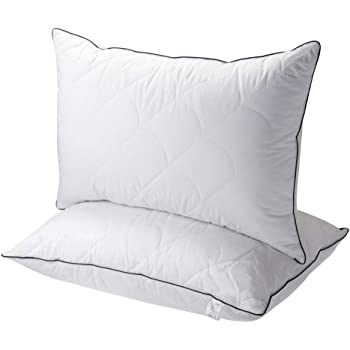 Sable Pillows for Sleeping - Queen Size Set of 2 - Luxury Down Alternative Pillows with Cotton Cover Skin-Friendly - Adjustable Soft Relief for Neck Pain, Good for Side and Back Sleeper, 30×20 inch