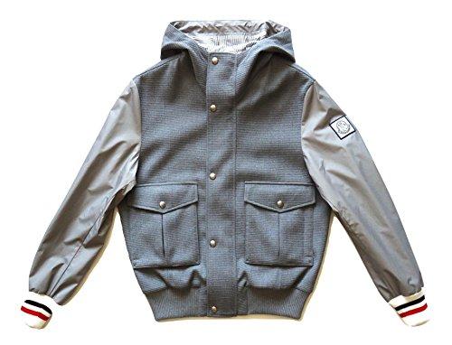 Moncler Chaqueta de hombre de lana con mangas de nailon C1 391 4060480 84965 gris gris X-Small