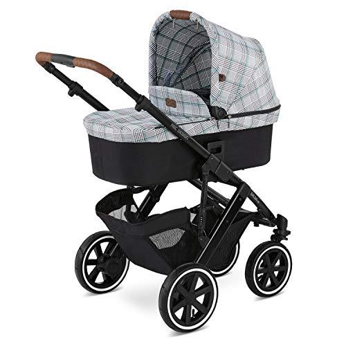 ABC Design 2 in 1 Kinderwagen Salsa 4 Air Fashion Edition – Kombikinderwagen für Neugeborene & Babys – Inkl. Sportsitz Buggy & Tragewanne – Radfederung & Luftreifen – Farbe: smaragd