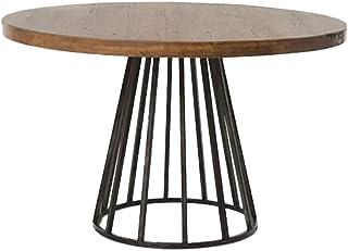 HMH 木製丸型ダイニングテーブル カフェ 飲食店 ホーム コーヒーテーブル 60 * 60 * 75CM アメリカンモダン 交渉テーブル 頑丈なテーブル 2〜3人に適しています 便利で美しい (Color : Brown, Size : 60...