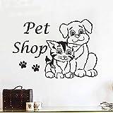 yaonuli Tienda de Mascotas Gatos y Perros vinilos Removibles vinilos Decorativos modificados Impermeables creativos 30X60cm