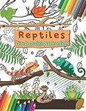 Reptiles Livre De Coloriage Pour Les Enfants: Caméléon, Crocodiles, Tortues, Lézards, Serpents et autres illustrations à colorier pour les garçons et ... super amusantes pour les amateurs de reptiles