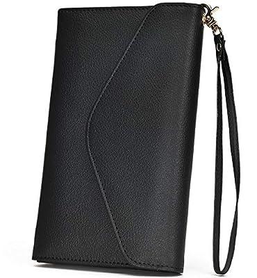 Multi-purpose Travel Passport Wallet Holder With Phone Pocket Removable Wristlet