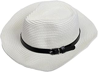 LPKH Sun Hat Outdoor Climbing Fishing Straw Hat UV Protection Beach Cap with Adjustable Chin Band hat (Color : White)