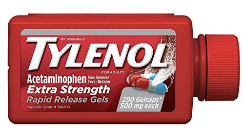 Tylenol Extra Strength Rapid Release Gels 500 mg - 290 ct.