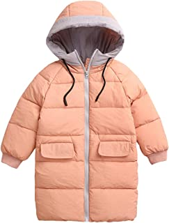 Zhhlinyuan Hoodie Outwear Child Outdoor Fashion Long Jacket - Padded Coat Windbreaker Warm Overcoat for Kid