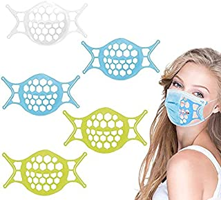 3D Mask Bracket Inner Support Frame Silicone for Comfortable Breathing Smoothly Lipstick Protection Reusable Washable 5PCS...