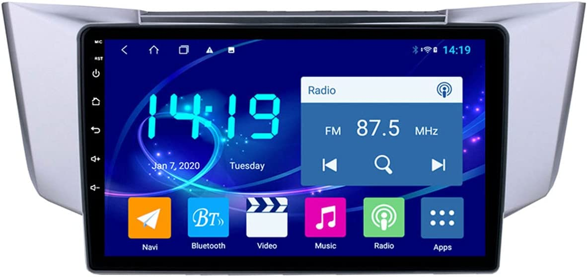 XINLIFE GPS Navigation System with Map Update Touchscreen Car GPS Navigator 4G RAM +64G ROM Vehicle GPS Equipment, for Lexus RX300 RX330 RX350,Support 3G/4GWIFI