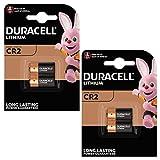 Duracell 4 x Batería fotográfica de litio CR2 de alta potencia de 3 V - DLCR2 - EL1CR2 - CR15H270