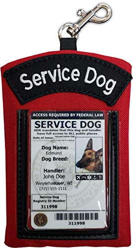 ActiveDogs Clip-On Service Dog ID Carrier Pouch (Red)