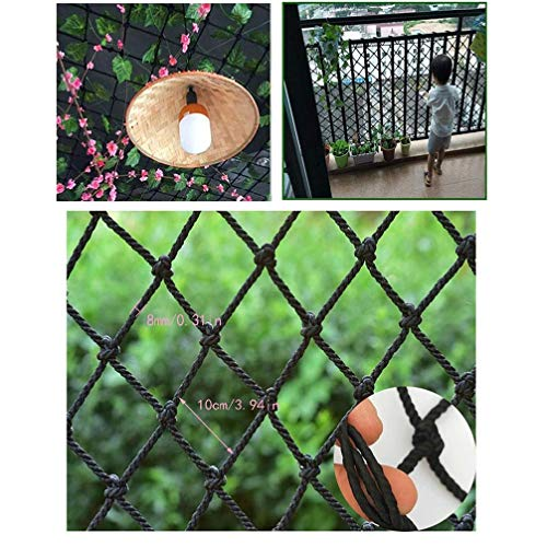 Best Bargain Safety rope netting Cargo Protection Net Climbing Net, Children's Balcony Stair Shatter...