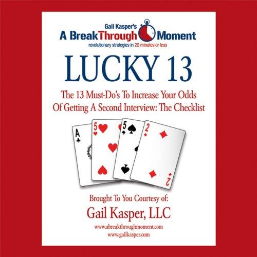 Lucky 13 audiobook cover art