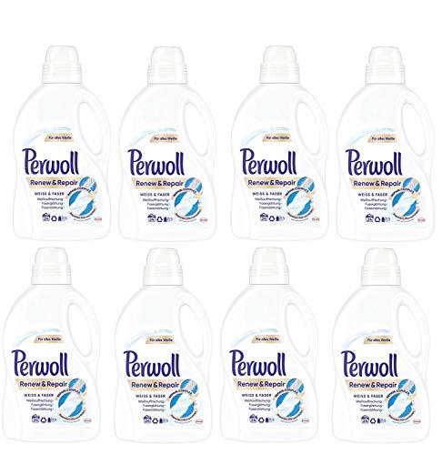 Perwoll Renew und Repair Weiß und Faser Feinwaschmittel, 192 (8 x 24) Waschladungen, für weiße Wäsche