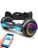 ACBK D01 App Route LED Carbonio, Scooter Elettrico Hoverboard Autobilanciato Unisex-Youth, 6.5'