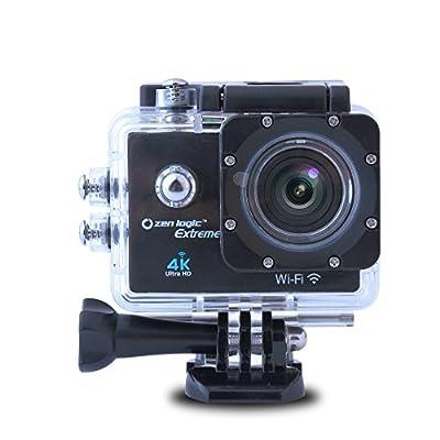 Zen Logic Extreme ZL-4KBK 4Khd Sports Camera Kit, Black by Ashley Entertainment Corp.