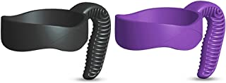 EVERIE 30 Oz Tumbler Handle for Ozark Trail,YETI,SIC,Magnum Steel 30 Oz tumblers 2 Pack (30 Oz, Black + Purple)