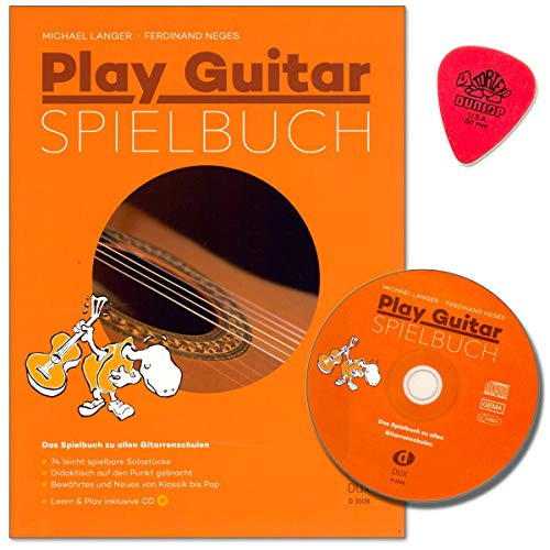 Play Guitar Spielbuch - Das Spielbuch zu allen Gitarrenschulen von Michael Lange - 74 leicht spielbare Solostücke - von Klassik bis Pop mit CD, Dunlop PLEK