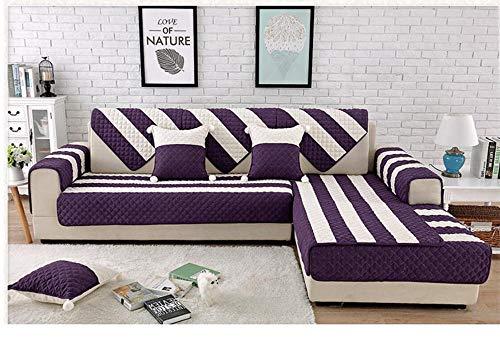Ginsenget Funda de sofá, Protector de Muebles hogar, Protector de sofá y Chaise Longue,Toalla de sofá de Felpa,Violeta,110X160cm