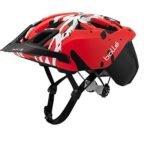Bollé The One, Casco de Bicicleta Unisex Adulto, Unisex Adulto, The One, Nero/Red Camo, M