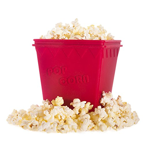 Lowest Price! Journey's Edge Cinema-Style Healthy Microwave Popcorn Popper, Red