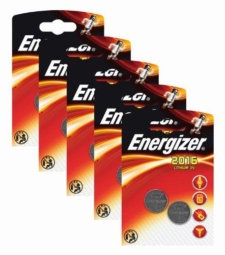 Energizer - Pilas de Litio CR 2016 (3 V, 5 Paquetes de 2 Unidades)