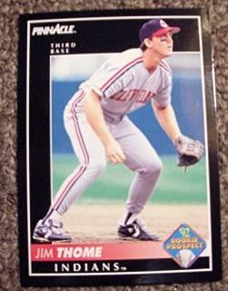 1992 Pinnacle Jim Thome # 247 MLB Baseball Rookie Prospect Card