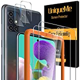 UniqueMe [2 pièces] Verre Trempé pour Samsung Galaxy A51 4G / 5G et [2 pièces] Caméra Arrière Protecteur pour Samsung Galaxy...