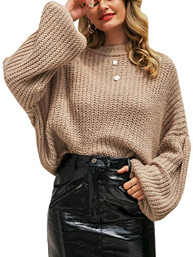 Oversized Cropped Sweaters for Womens