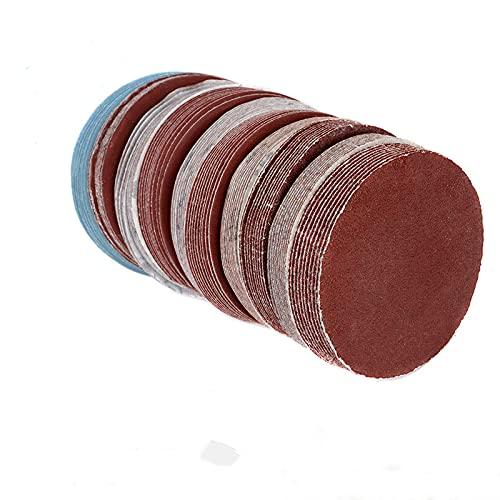 Papel de lija de 3 pulgadas y 75 mm, 10 piezas, disco de lijado de grano 60-2000para máquina lijadora Dremel, accesorios de herramientas abrasivas autoadhesivas, 10 piezas, grano 80