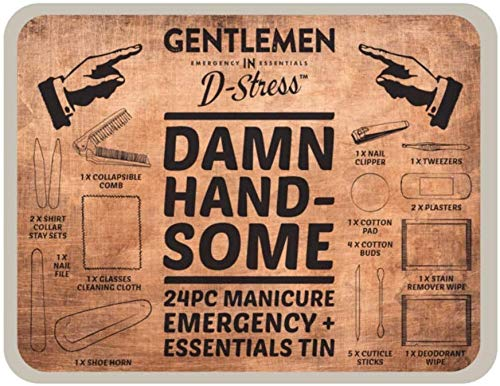 Verdomde knappe mannen 24 stuk Manicure Emergency en Essentials Tin