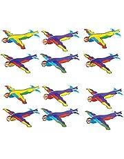 KP KINPARTY ® – 12 polystyren superhjälte flygplan (ca 19 cm) – för födelsedagspresenter, utomhusfester, för att fylla piñatas