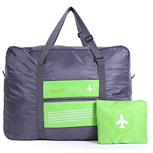 FunYoung™ Faltbare Reisetasche Superleichtes Tragbares Handgepäck aus Polyester Grau (Grün)
