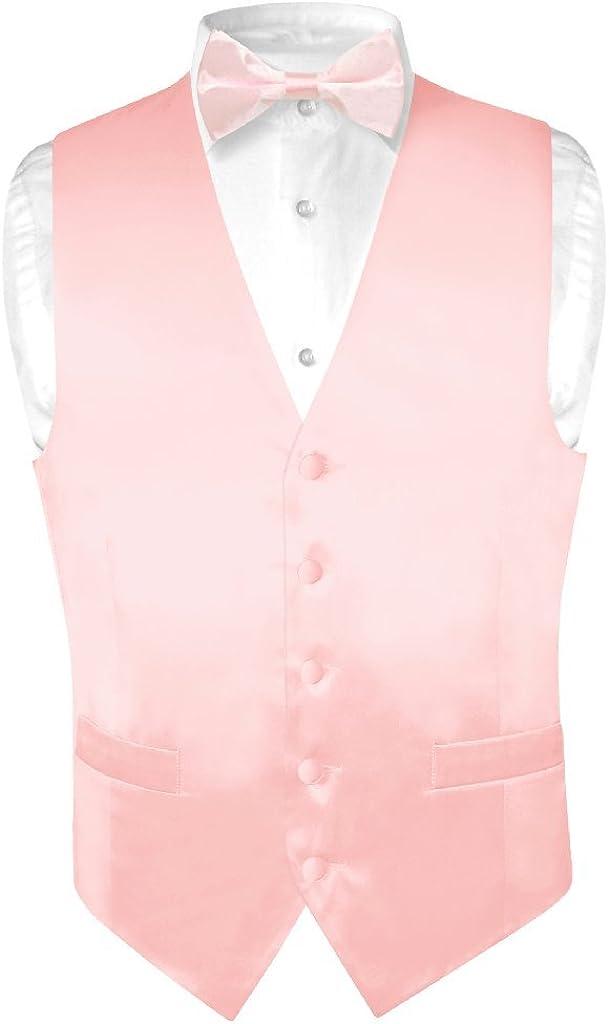 Biagio Men's SILK Dress Brand Cheap Sale Venue Vest Bow PINK Tie Bo LIGHT Solid Max 74% OFF Color